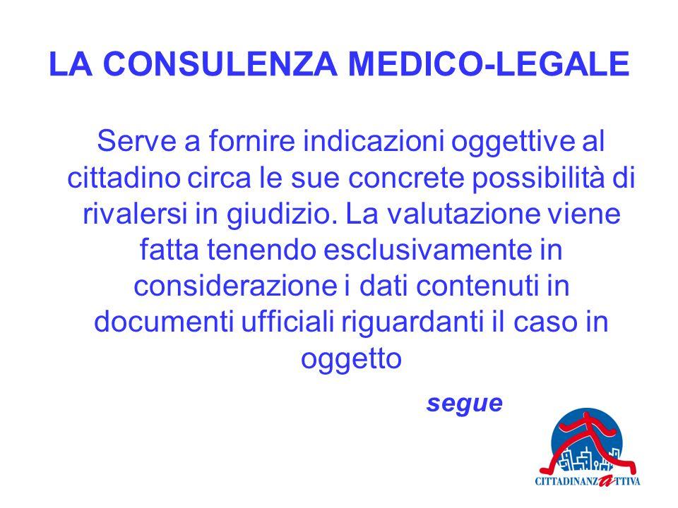 LA CONSULENZA MEDICO-LEGALE