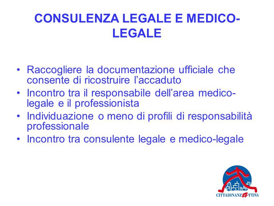 CONSULENZA LEGALE E MEDICO-LEGALE