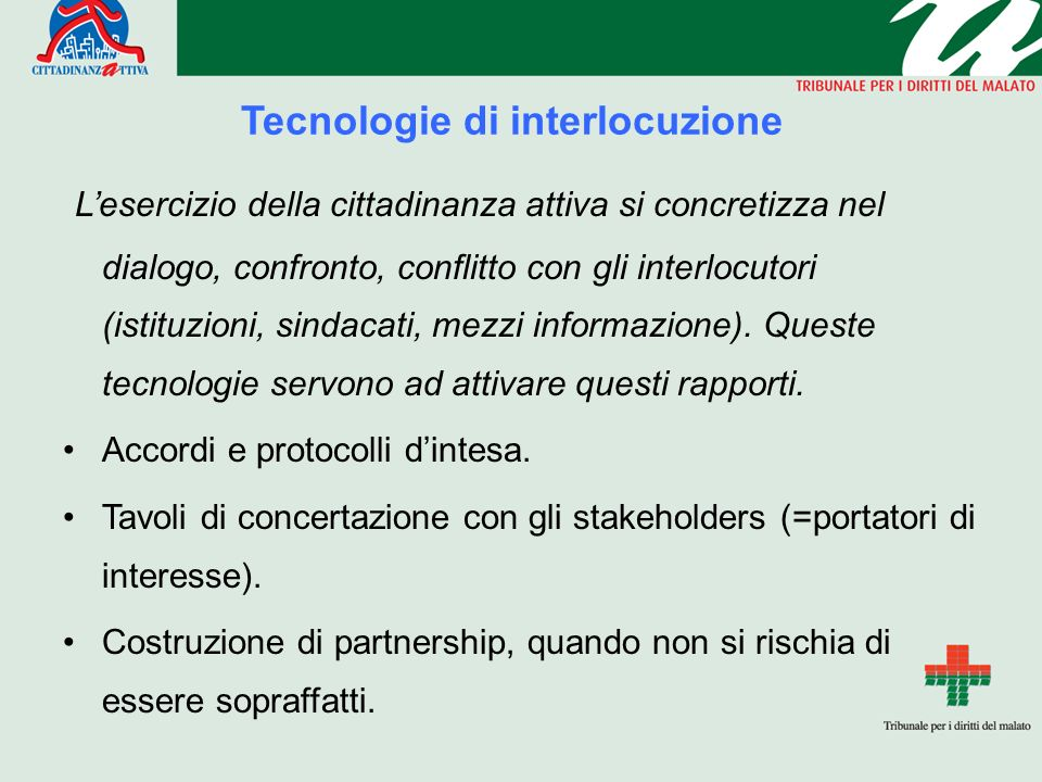 Tecnologie di interlocuzione