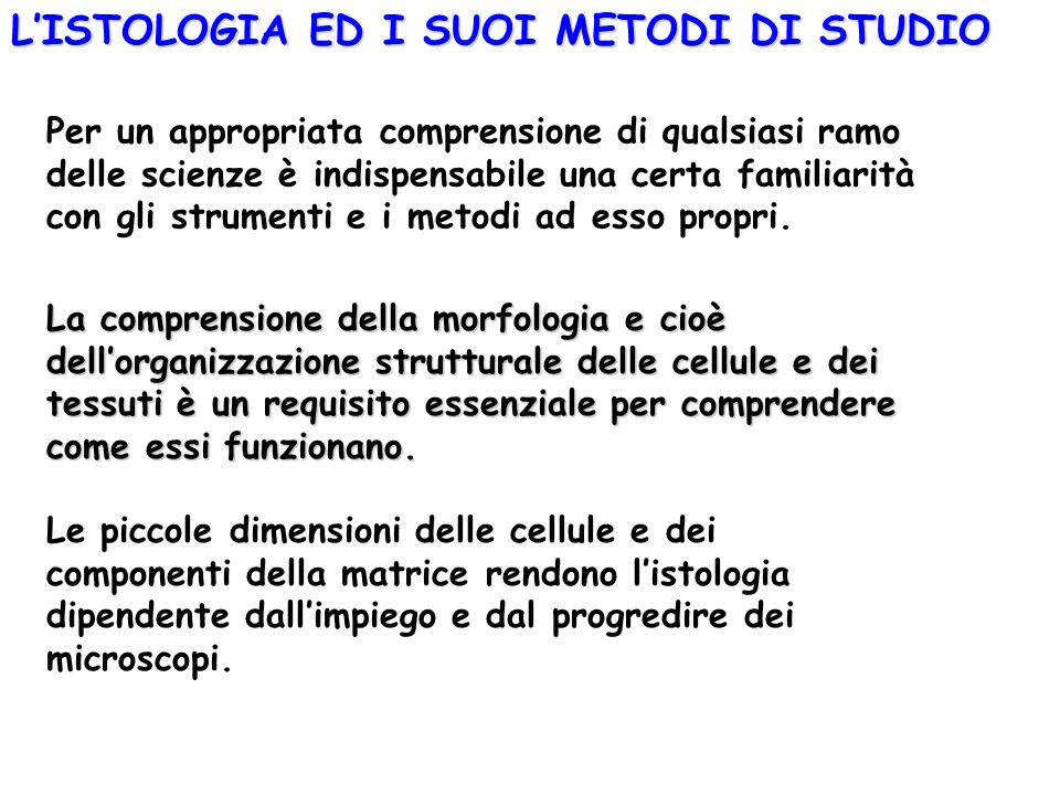 L'ISTOLOGIA ED I SUOI METODI DI STUDIO
