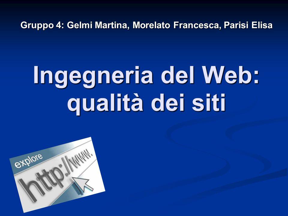 Ingegneria del Web: qualità dei siti