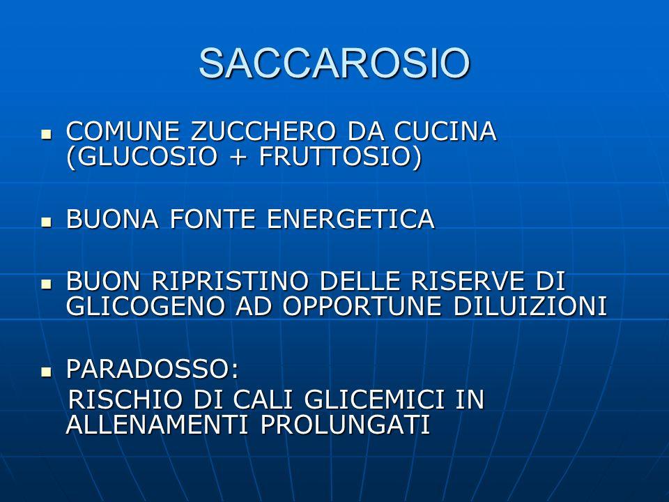 SACCAROSIO COMUNE ZUCCHERO DA CUCINA (GLUCOSIO + FRUTTOSIO)