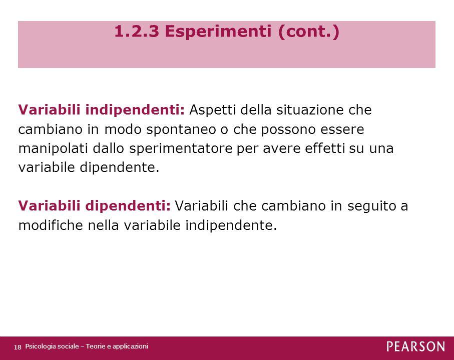 1.2.3 Esperimenti (cont.)