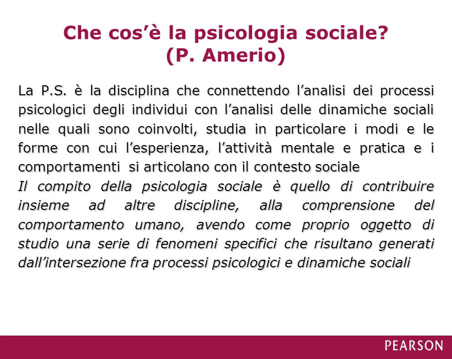 Che cos'è la psicologia sociale (P. Amerio)