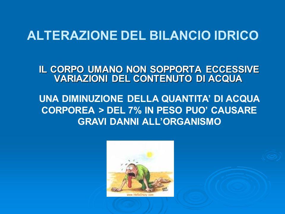 ALTERAZIONE DEL BILANCIO IDRICO