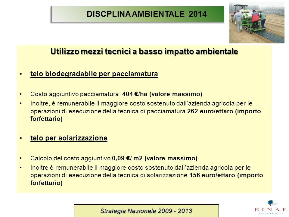 Utilizzo mezzi tecnici a basso impatto ambientale
