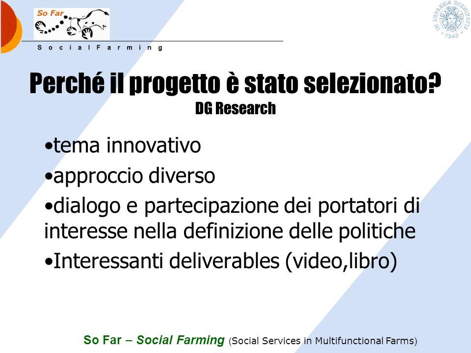 Perché il progetto è stato selezionato DG Research