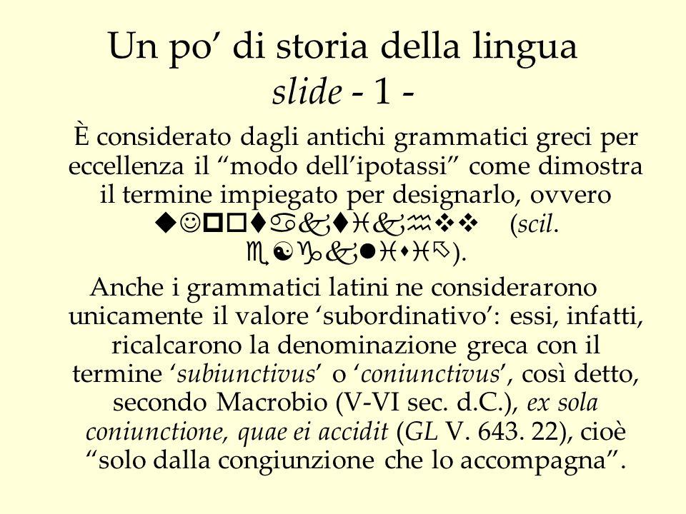Un po' di storia della lingua slide - 1 -