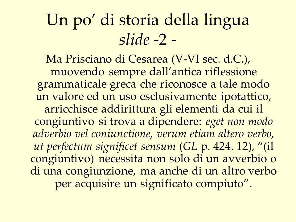 Un po' di storia della lingua slide -2 -