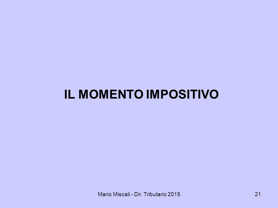 Mario Miscali - Dir. Tributario 2015