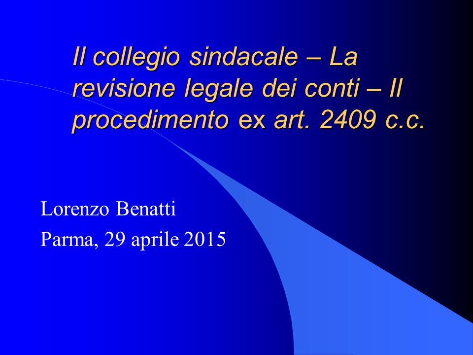 Lorenzo Benatti Parma, 29 aprile 2015