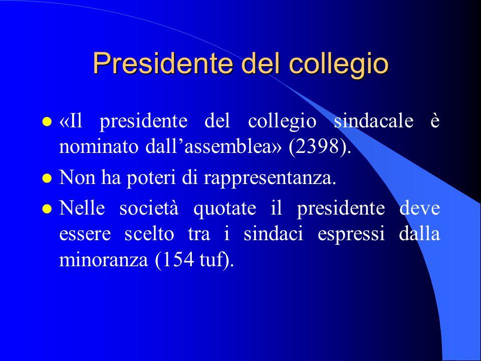 Presidente del collegio