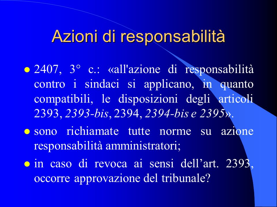 Azioni di responsabilità