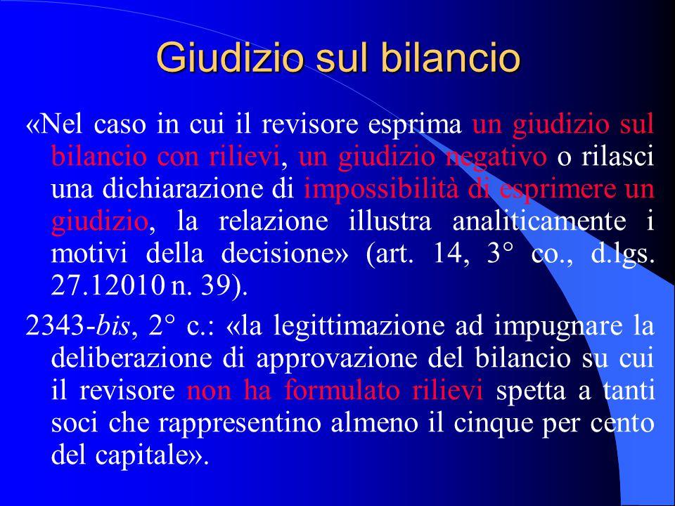 18/04/2017 Giudizio sul bilancio.