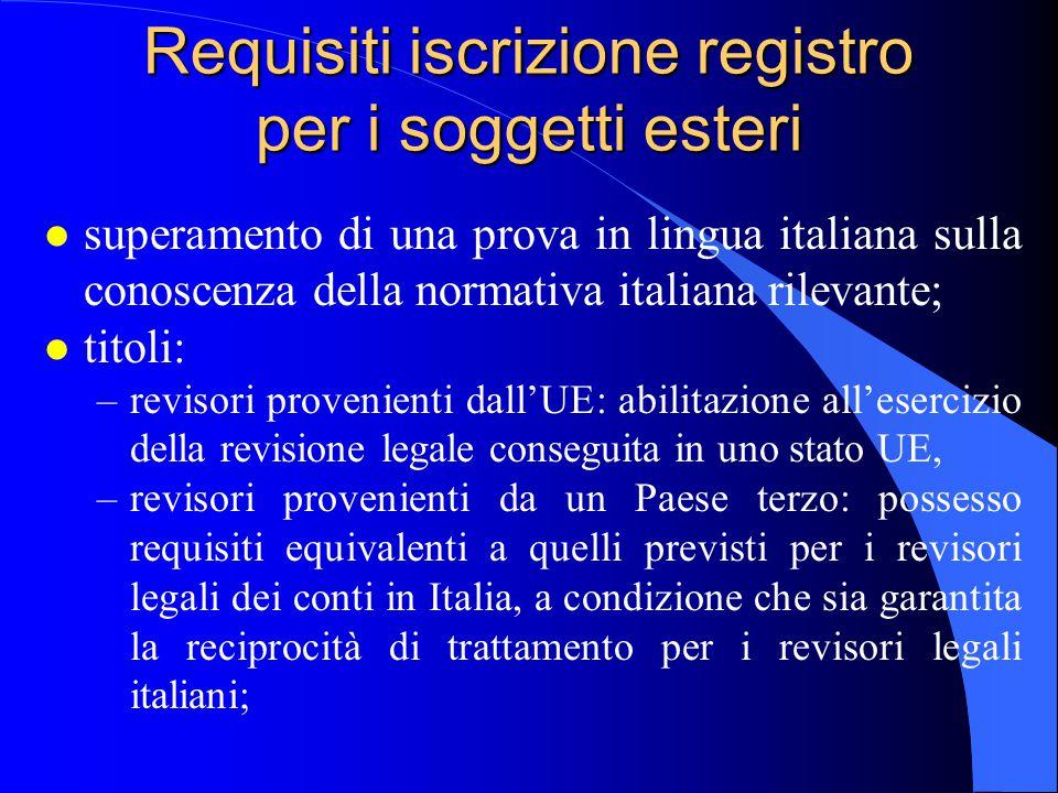 Requisiti iscrizione registro per i soggetti esteri