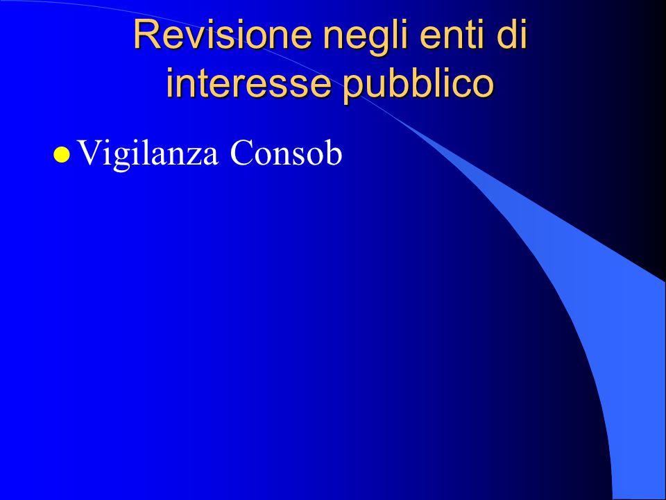 Revisione negli enti di interesse pubblico