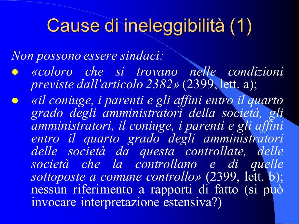 Cause di ineleggibilità (1)