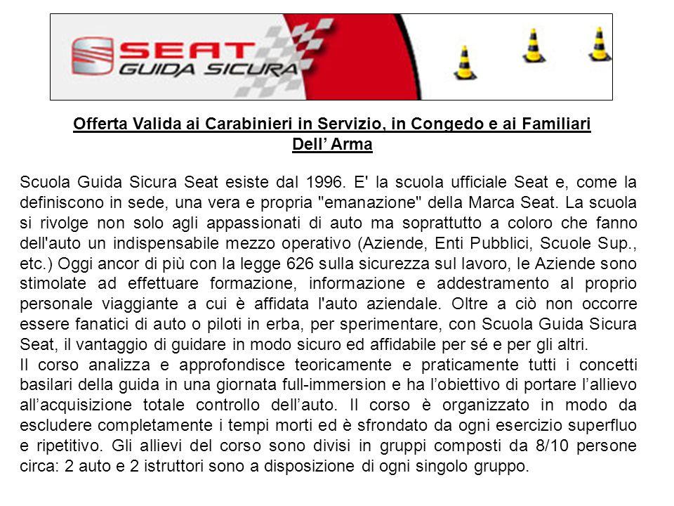Offerta Valida ai Carabinieri in Servizio, in Congedo e ai Familiari