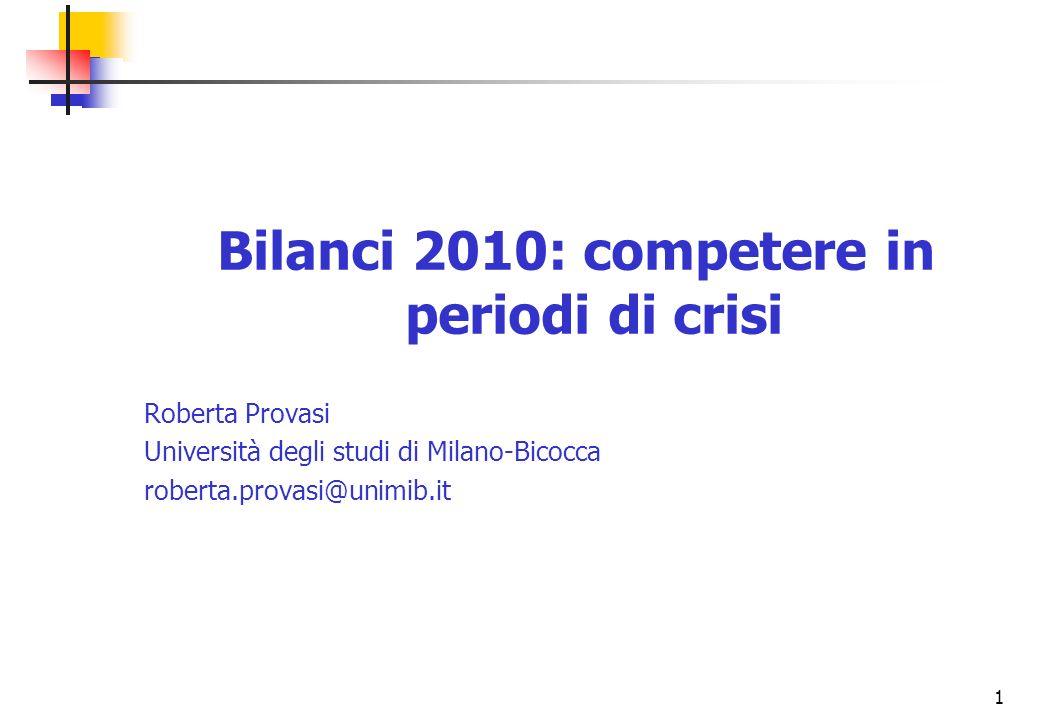 Bilanci 2010: competere in periodi di crisi
