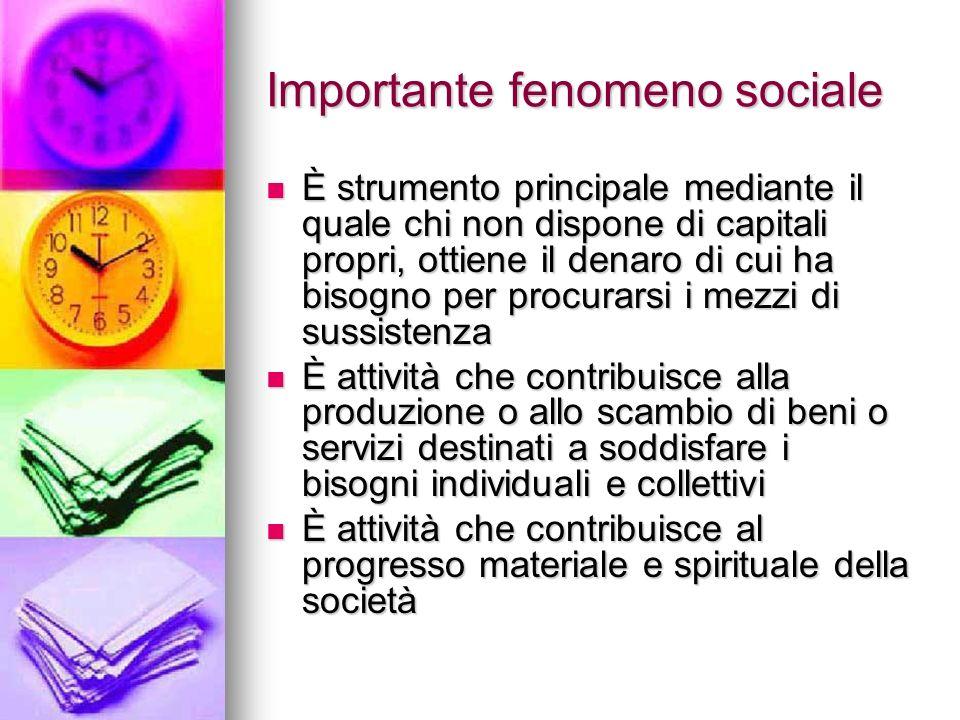 Importante fenomeno sociale