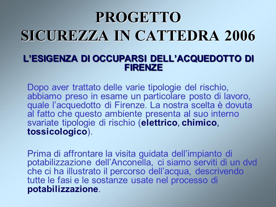 PROGETTO SICUREZZA IN CATTEDRA 2006