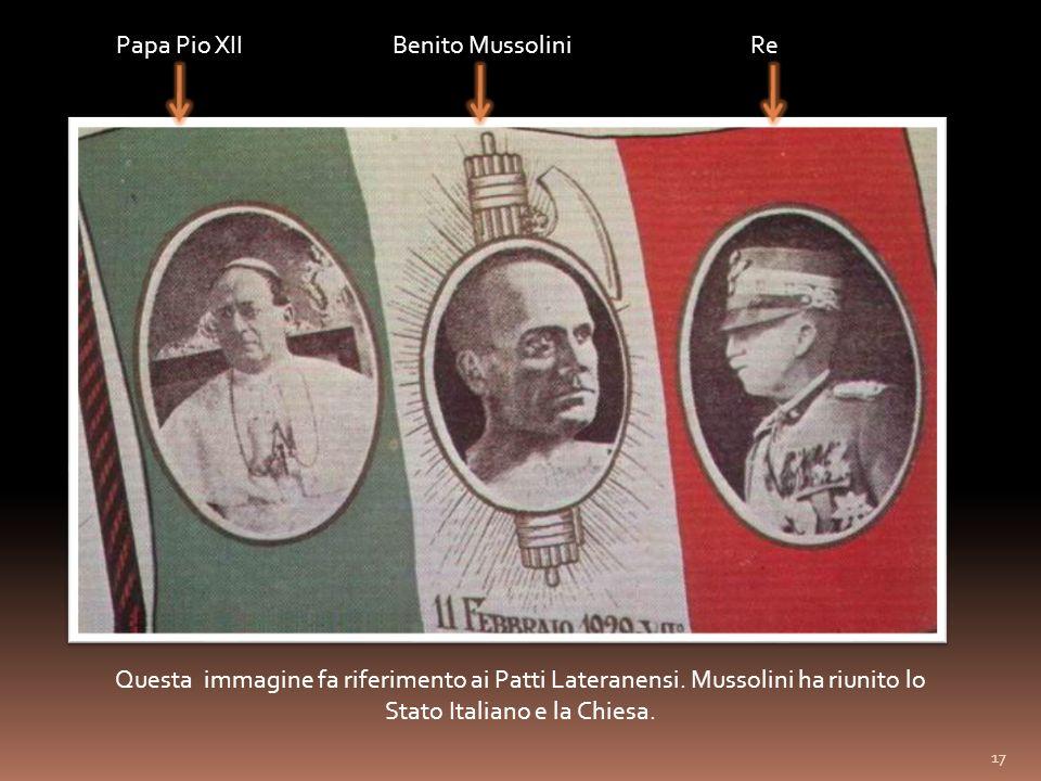 Papa Pio XII Benito Mussolini Re
