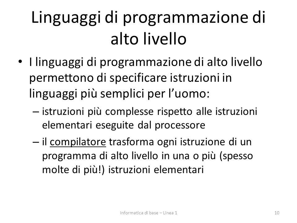 Linguaggi di programmazione di alto livello