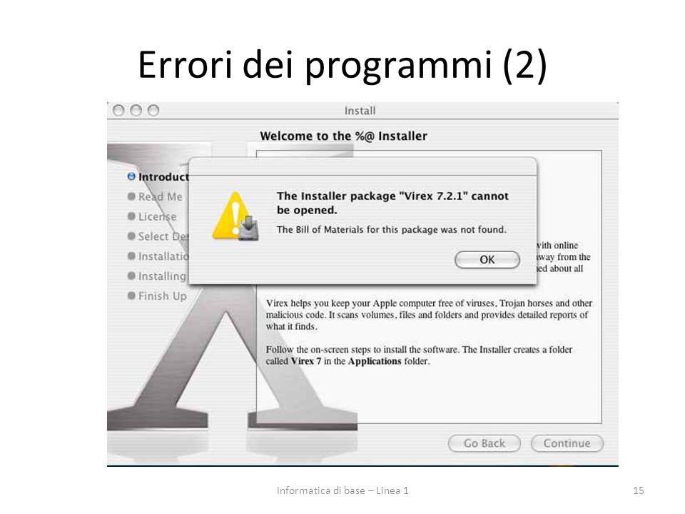 Errori dei programmi (2)