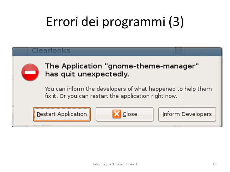 Errori dei programmi (3)