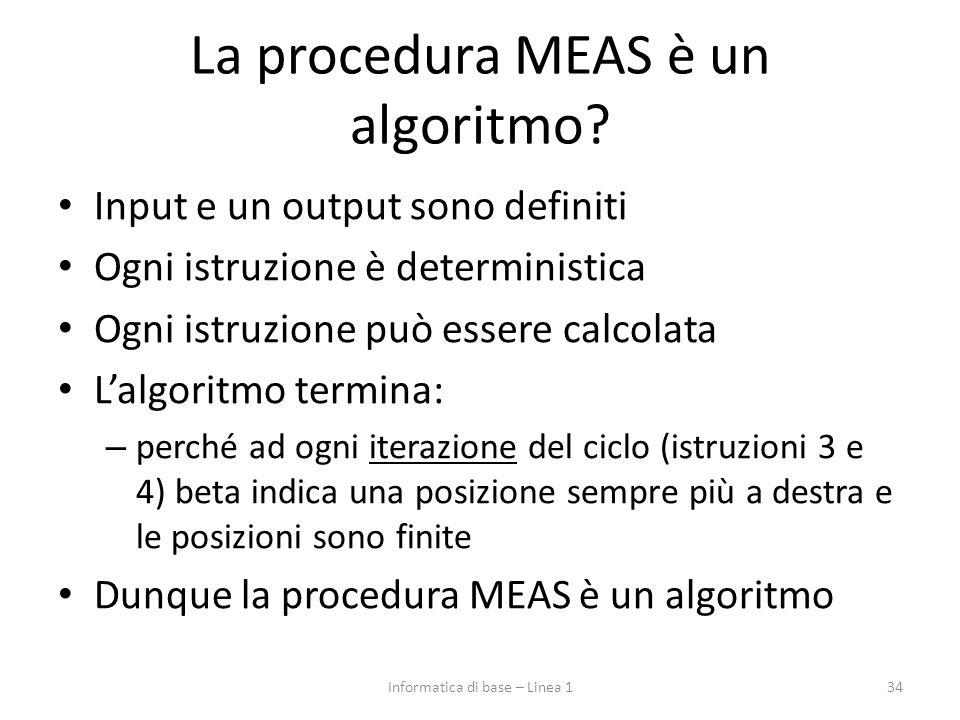 La procedura MEAS è un algoritmo