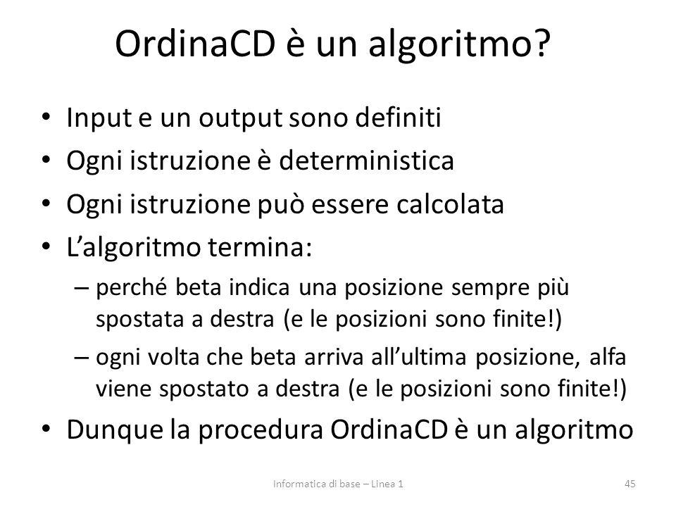 OrdinaCD è un algoritmo