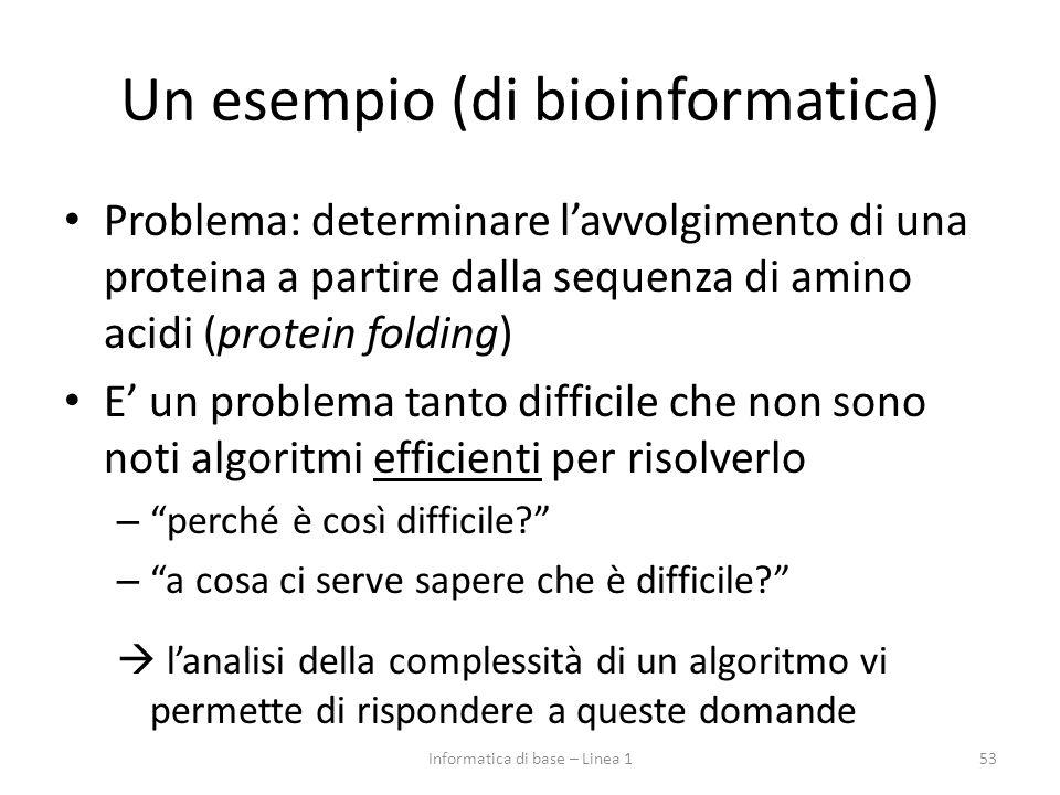Un esempio (di bioinformatica)