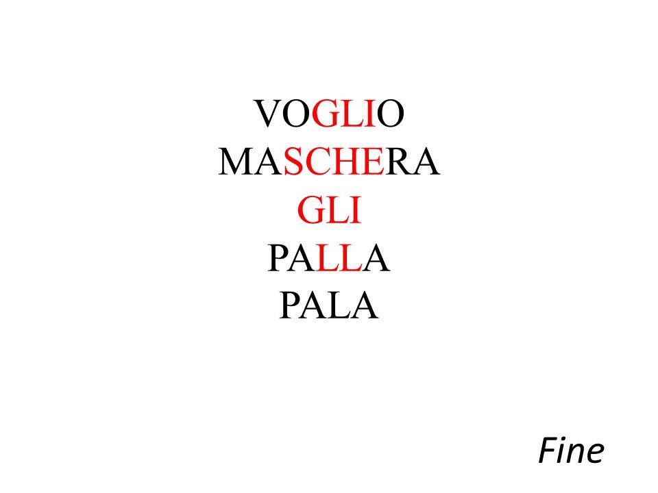VOGLIO MASCHERA GLI PALLA PALA Fine