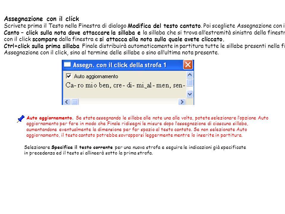 Assegnazione con il click