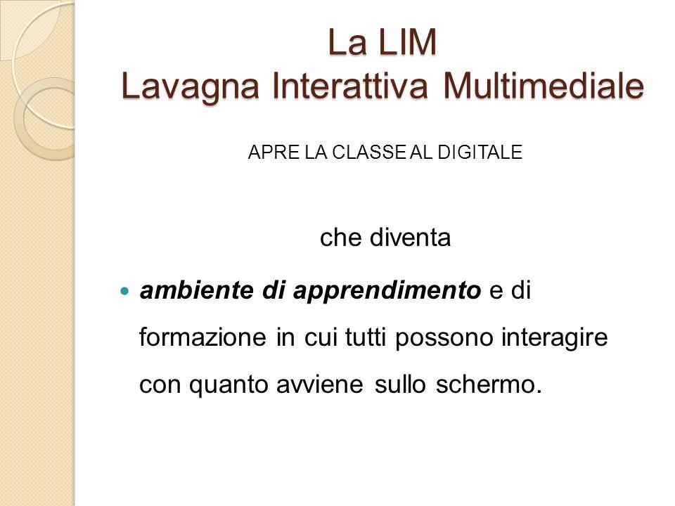 La LIM Lavagna Interattiva Multimediale