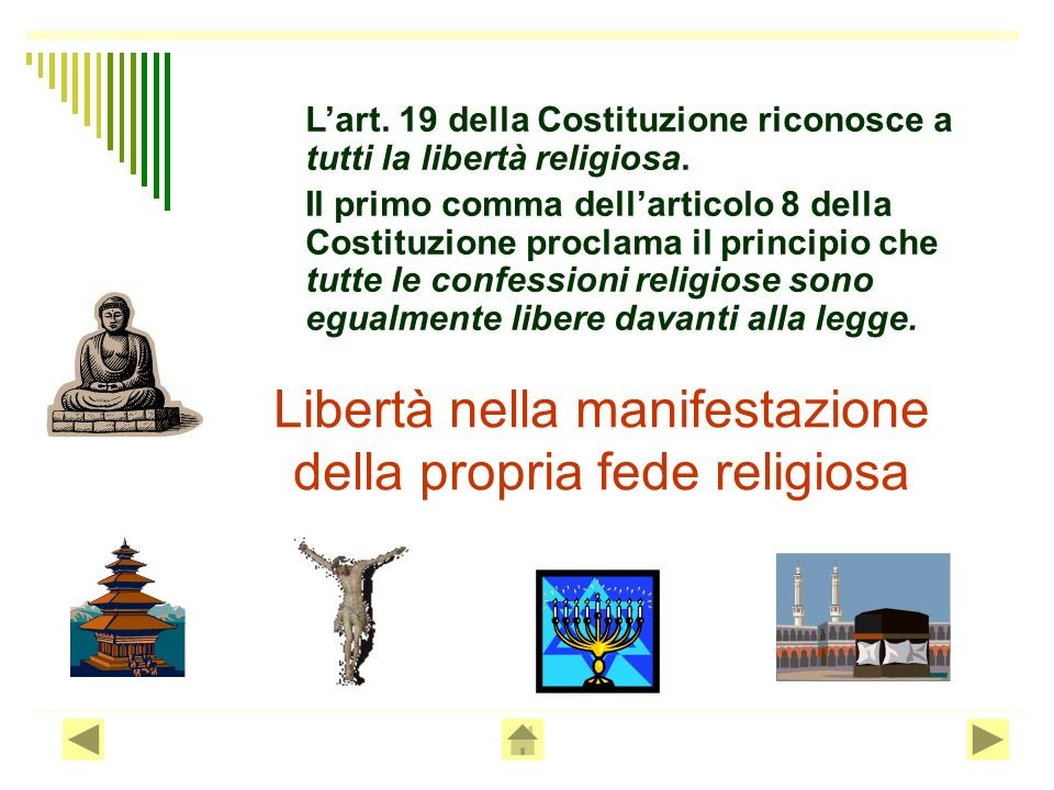 Libertà nella manifestazione della propria fede religiosa