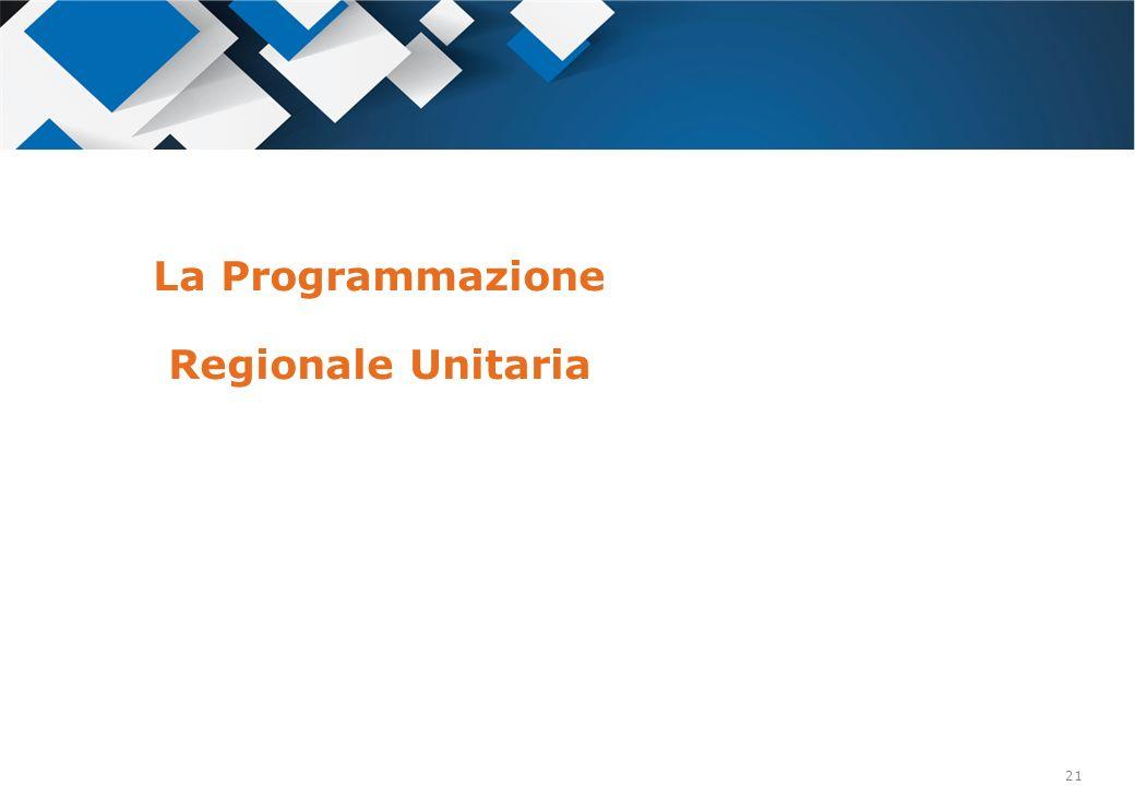 La Programmazione Regionale Unitaria