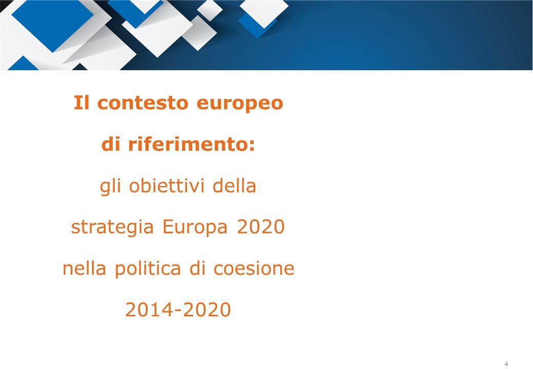 Il contesto europeo di riferimento: