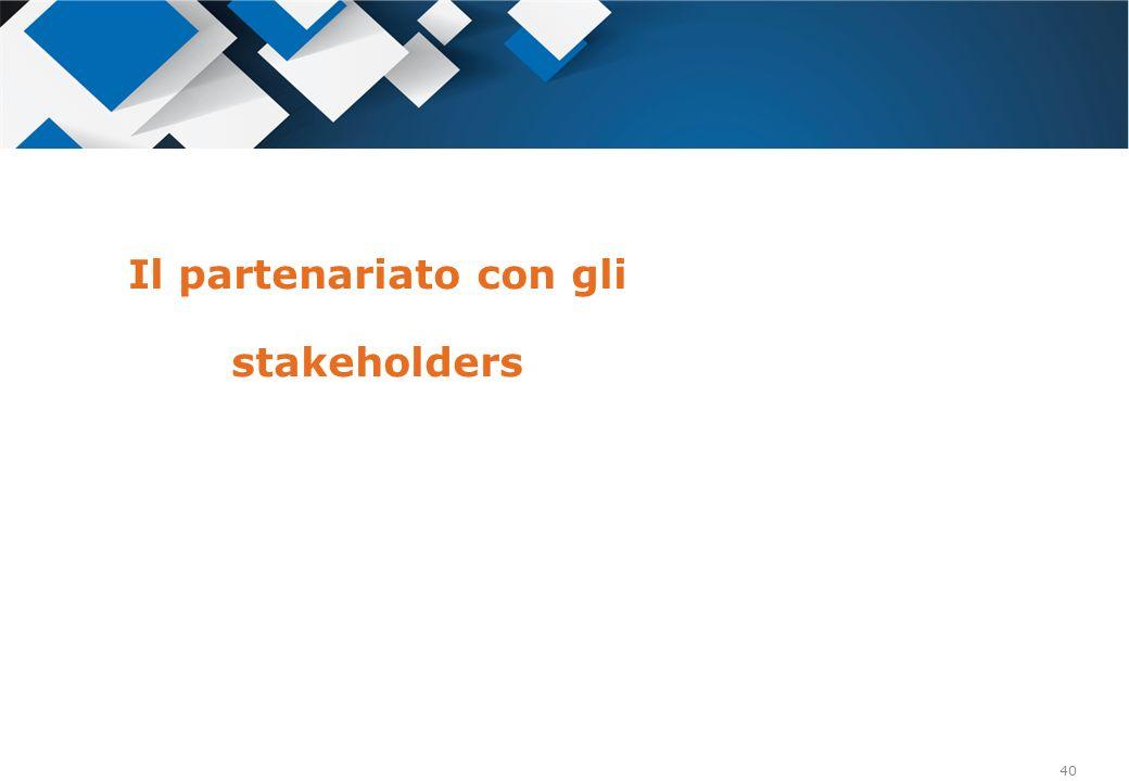 Il partenariato con gli stakeholders