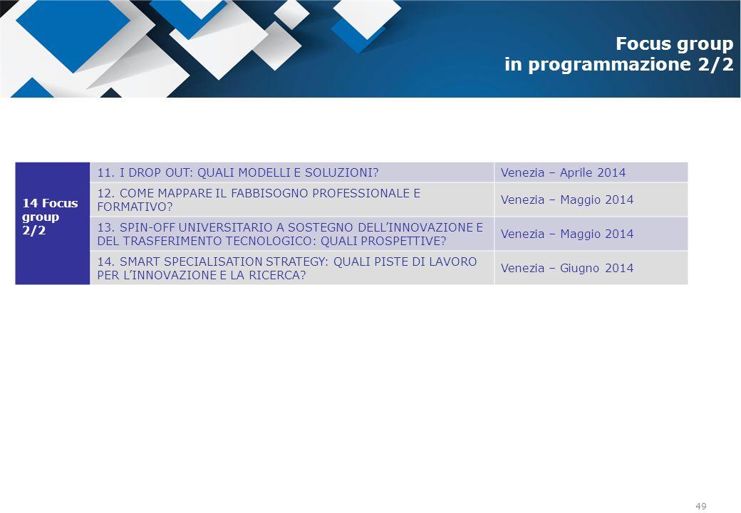 Focus group in programmazione 2/2