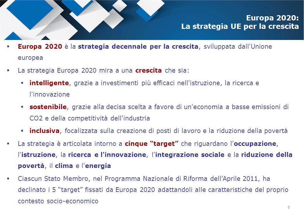 Europa 2020: La strategia UE per la crescita