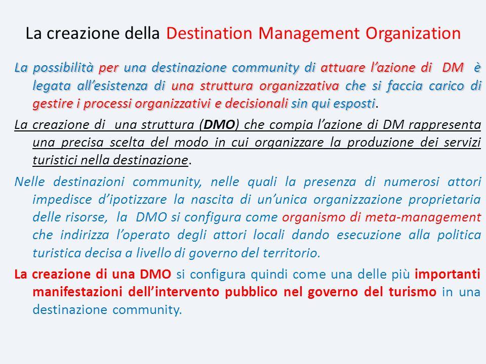 La creazione della Destination Management Organization