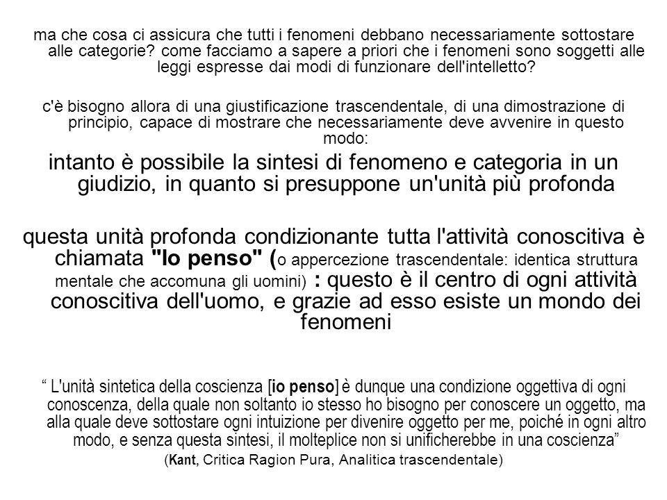 (Kant, Critica Ragion Pura, Analitica trascendentale)