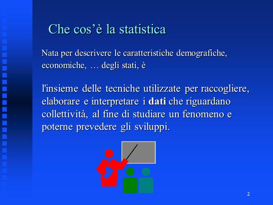 Che cos'è la statistica