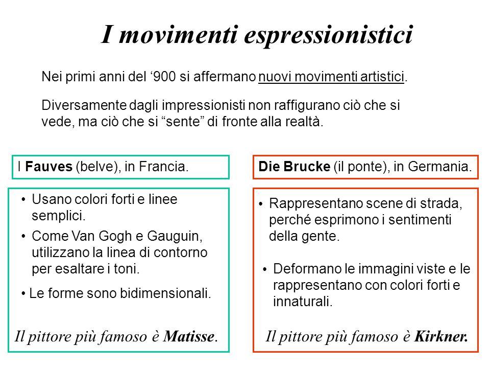 I movimenti espressionistici