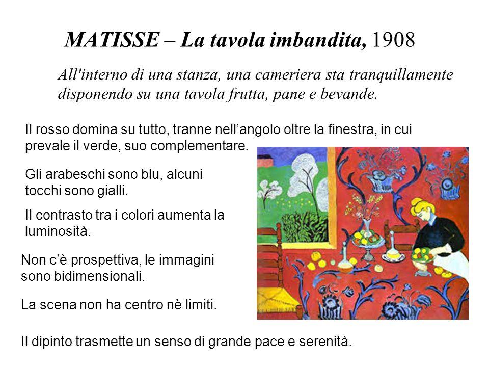 MATISSE – La tavola imbandita, 1908