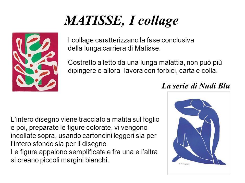 MATISSE, I collage La serie di Nudi Blu