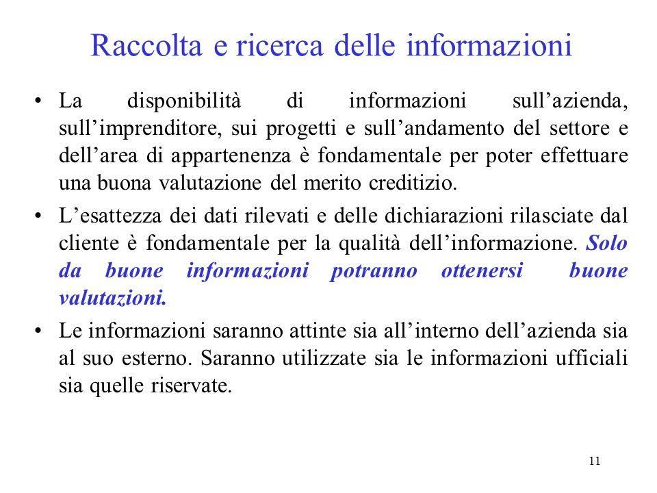 Raccolta e ricerca delle informazioni