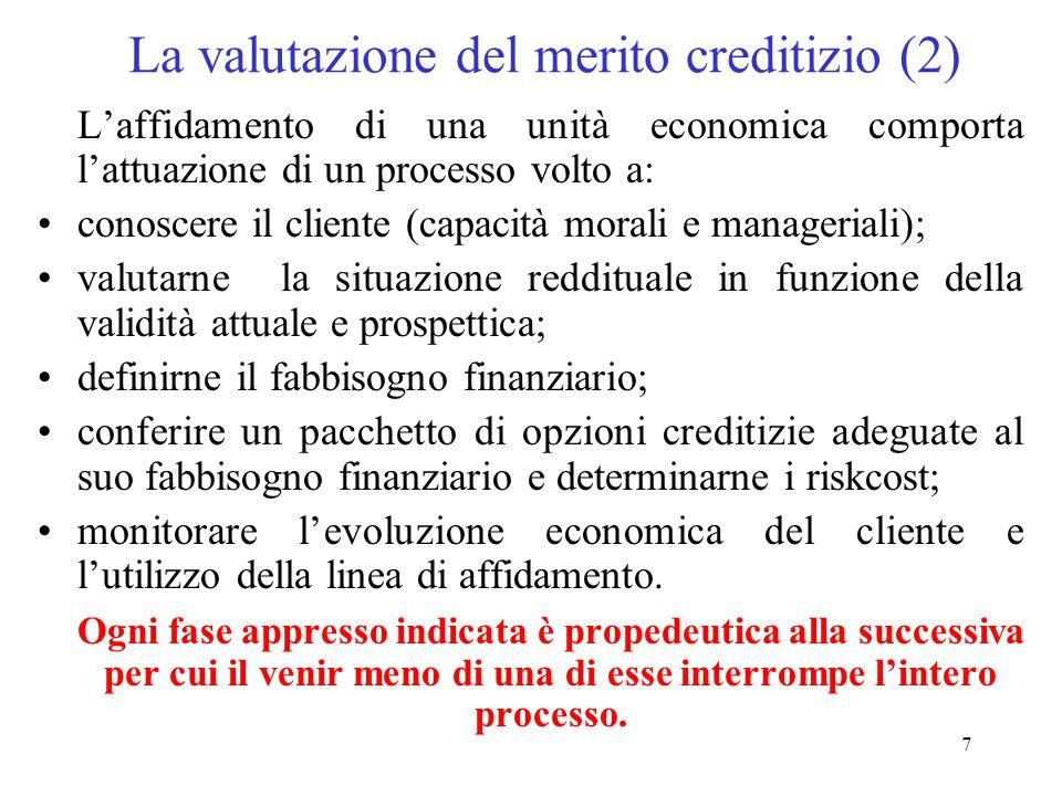 La valutazione del merito creditizio (2)