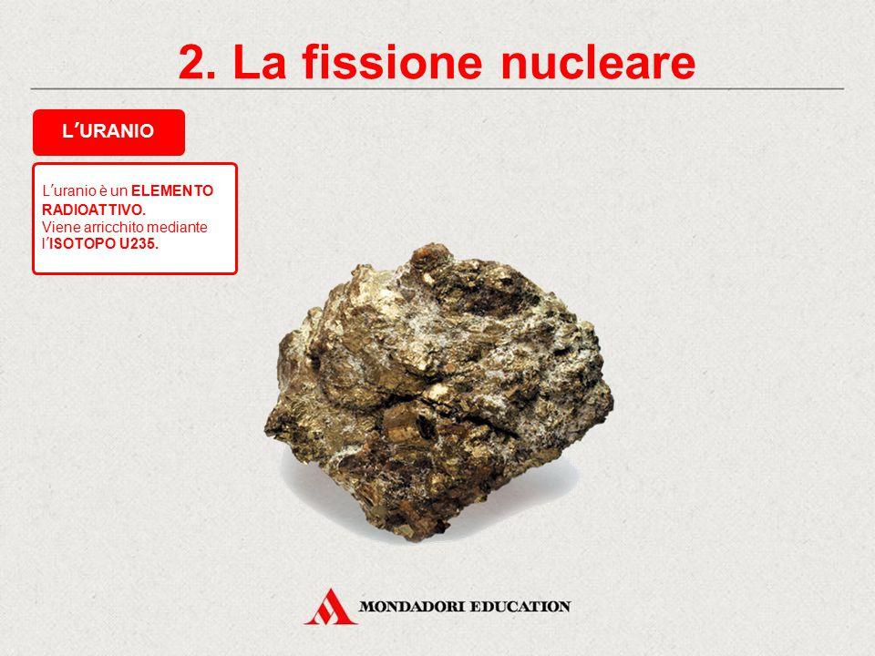2. La fissione nucleare L'URANIO * L'uranio è un ELEMENTO RADIOATTIVO.
